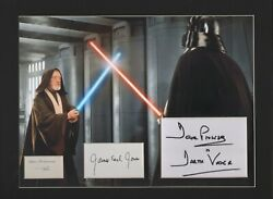 Star Wars. Dave Prowse, Alec Guinness, James Earl Jones. Authentic Signatures.