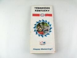 Vintage 1967 Tennessee Kentucky Road Map From Enco Humble Gas And Oil Company