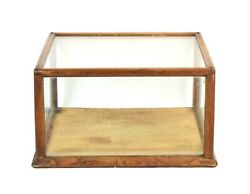 Antique Circa 1900 Oak And Glass General Store Counter Top Display Cabinet