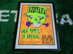 1993 Nirvana Meat Puppets Concert Poster Hara Arena Signed 372/400 Bolton Rock