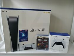 Playstation 5 Disc Bundle - Bonuses Included - Ps5 Disc Bundle - New In Box