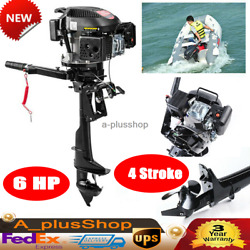 6hp 4 Stroke Fishing Boat Engine Outboard Engine Motor Air Cooling 1 Cylinder Us