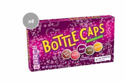 903182 4 X 141g Theatre Boxes Bottle Caps 'the Soda Pop Candy' Root Beer Cola