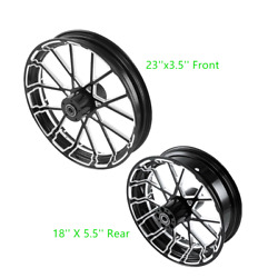 23 Front 18'' Rear Wheel Rim W/ Hub Fit For Harley Electra Glide 08-21 Non Abs