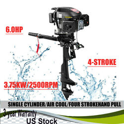 Hangkai 4stroke 6hp Outboard Motor Fishing Boat Engine Air Cooling System Cdi Us