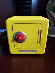 Vintage Fort Knox Safes 6 X 6 Tin Coin Bank Working Combination