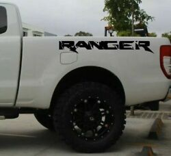 2X Ford Ranger bed side Vinyl Decals graphics