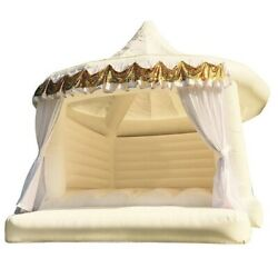 Commercial Inflatable Bounce House Adults Kids With Blower White Princess Castle