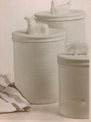 Martha Stewart Collection 6-pc Ceramic Canister Set