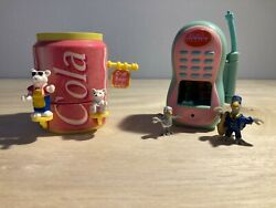 Teeny Weeny Families Play Sets With Figures Cell Phone And Coca Cola Bottle