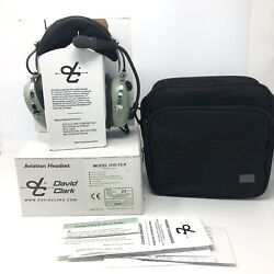 David Clark H10-13.4 Pilot Headset W/case And Box. Used Once