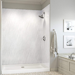 Mermaid Bath And Shower Walls Four Panel Shower Wall In 60 W X 36 D X 72 H In