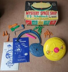 Marx Mystery Space Ship Made In Wales Gyroscope 60and039s 100 Complete Boxed Exc