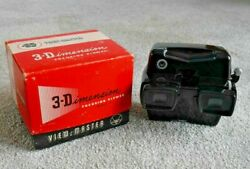 Sawyerand039s Viewmaster Model D Lighted Focusing Stereo Viewer Rare Black Boxed K135