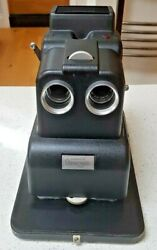 Viewmaster Stereo-matic 500 Black Cased Instructions And Power Lead Rare Vnm
