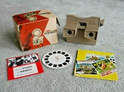 Viewmaster Model G Stereo Viewer Boxed With Rare Danish Preview Reel I966