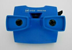 Rare Blue Viewmaster Model J Stereo Viewer 1970and039s Gaf With Black Lever I859