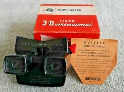 Vintage Black And Red Viewmaster Model E Viewer Boxed Made In Spain Modelo E K168