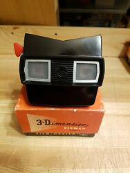 Viewmaster Model E Viewer Made In Usa Black With Red Advance Lever Boxed H284
