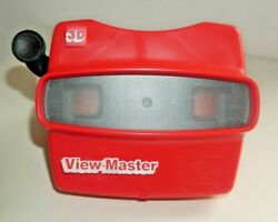 Tyco Viewmaster Model L Viewer Red 1980and039s Rare Black Handle H323
