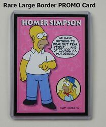 Homer Simpson RARE Large Border 1993 SkyBox PROMO Card P4 in New Toploader