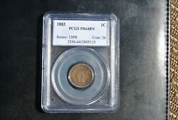 1883 INDIAN CENT PCGS CERTIFIED PR64BN PROOF