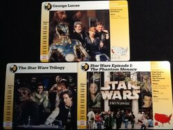 Grolier Cards Lot Of 3 Star Wars Episode 1 George Lucas And Trilogy/mint Cards