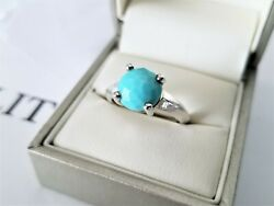 Ippolita - Rock Candy Turquoise Knife Edge Ring - Size 7 - Brand New 295