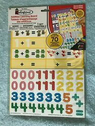 Colorforms Addition Learning Board - Over 70 Repositionable Stickers - New