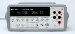 Hp / Agilent 34401a Digital Multimeter 6andfrac12 Digit Tested And Spot-on + Leads. Clean