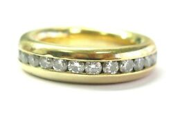 Thick Round Diamond Eternity Band 18kt Yellow Gold 27-stones 2.50ct Size 7.5 G-v