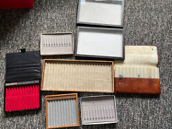 Fountain Pen Lot Of Vintage Pen Trays Varying Ages Visconti Bankers Chromatic