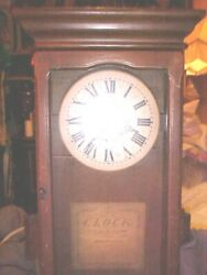 New England Clock Co. Bristol Conn. Large Wall Clock As Is Parts No Pendulum