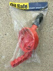 Oil Safe 100508 Stumpy Spout Lid With 1 In Outlet - Hdpe Color Red - New