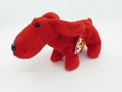 Ty Beanie Baby Rover Red Dog Rare Tag Errors Retired Pvc Pellets 5-30-1996