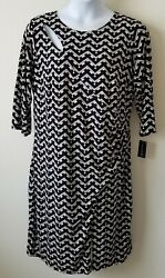 International Concepts Size 2x Geo Cutout Dress Knee Length New With Tags. Dh8