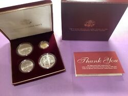 1995 Us Olympic Coins Of The Atlanta Games 4 Coin Proof Set W/gold Coin B42
