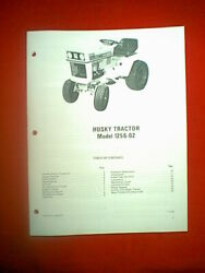 Bolens Husky Hydro Tractor Model 1256-02 With Wisconsin Engine Owner's Manual