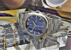 Armand Nicolet J09-3 Chronograph Blue Stainless Steel A668aaa
