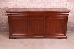 Grange French Provincial Cherry Wood Sideboard Credenza Or Bar Cabinet