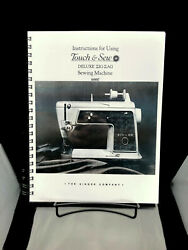 Singer 600e Touch And Sew Zig Zag Instructions User Guide Manual Reprint Copy