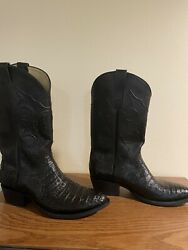 Genuine Cowtown Leather Boot Alligator Sz11 W7576 Nice Ee Cowboy Made In Usa Tx