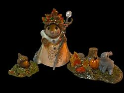 Wee Forest Folk Special Autumn Queen W/ Her Bunny And Her Fall Acorn Sold Out