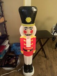 Vintage 1987 Nutcracker Soldier Blow Mold Union Products 40 Tall Rare