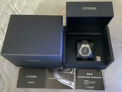Citizen Ar5000-50e Stainless Steel Eco-drive One Solar Mens Watch Auth Works
