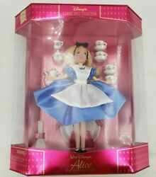 Rare Disney Dlr Alice In Wonderland With Tea Set Classic Doll Collection New