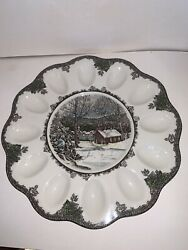 Johnson Brothers The Friendly Village Deviled Egg Tray Plate