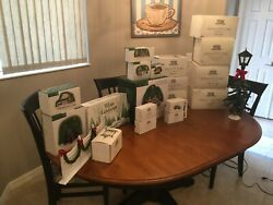 Lot Of Dept. 56 Andldquoheritage Village Collectionandrdquo Christmas Series Most In Boxes 23