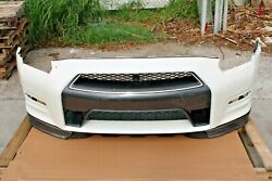 2015 Nissan R35 Gtr Dba Front Bumper Cover Assembly W/ Grille And Lip White Oem