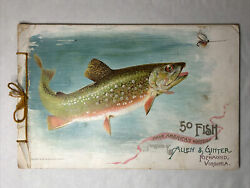 1889 Antique Allen And Ginter 50 Fish From American Waters Album Cigarette Cards